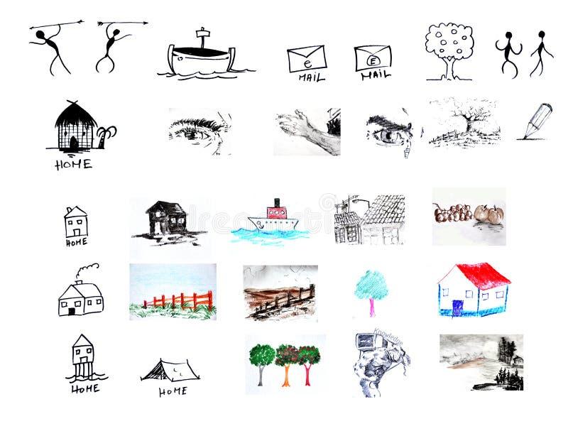 εικονίδιο στοιχείων σχ&epsi στοκ εικόνες με δικαίωμα ελεύθερης χρήσης