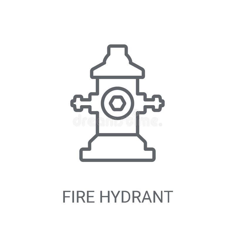 Εικονίδιο στομίων υδροληψίας πυρκαγιάς Καθιερώνουσα τη μόδα έννοια λογότυπων στομίων υδροληψίας πυρκαγιάς στη λευκιά ΤΣΕ διανυσματική απεικόνιση