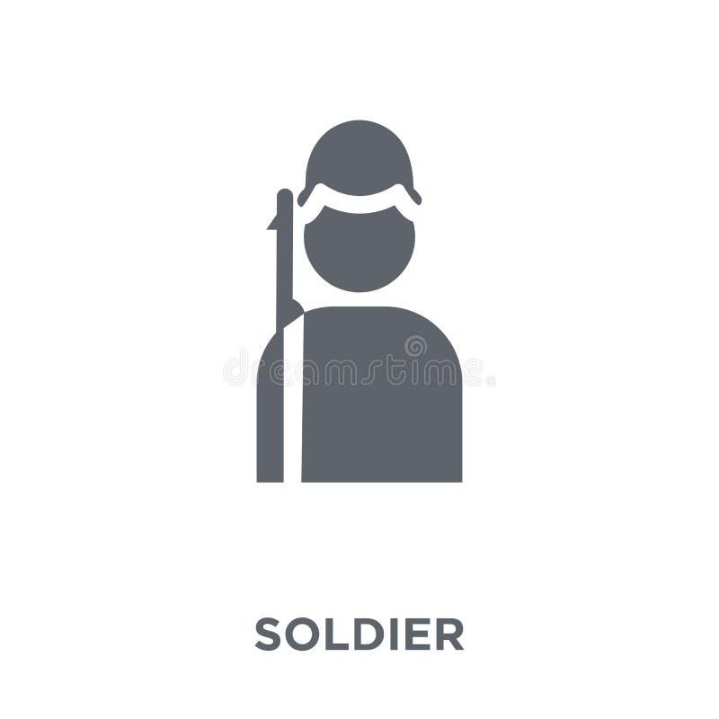 Εικονίδιο στρατιωτών από τη συλλογή στρατού διανυσματική απεικόνιση