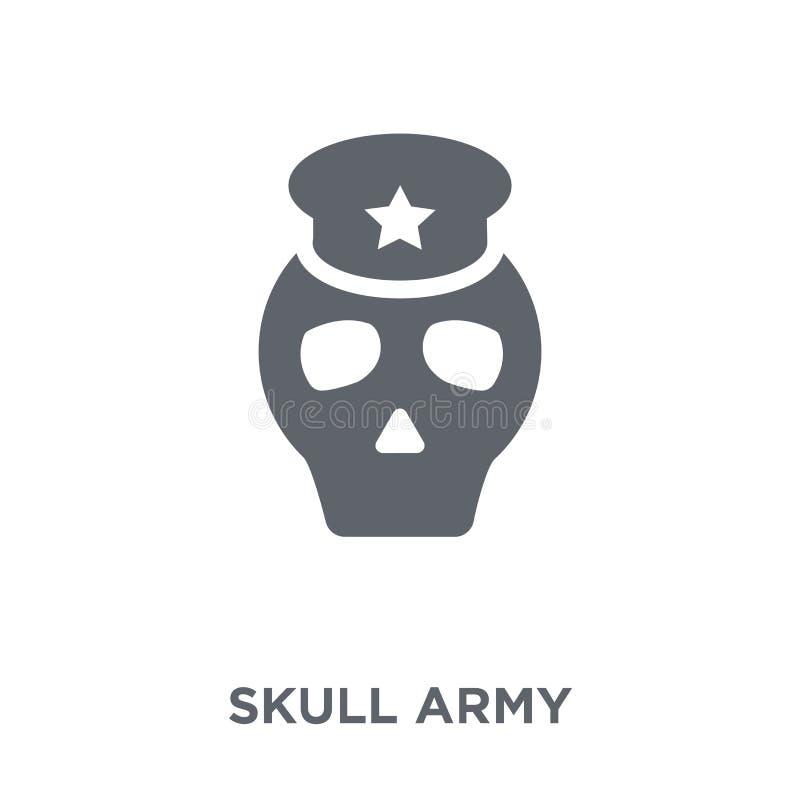 Εικονίδιο στρατού κρανίων από τη συλλογή στρατού απεικόνιση αποθεμάτων