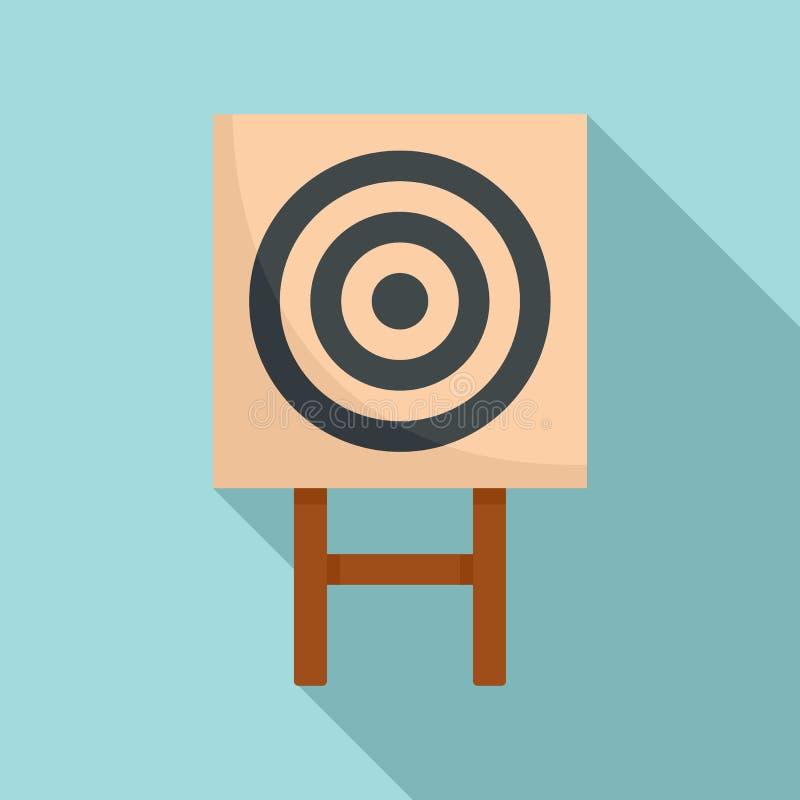 Εικονίδιο στόχων αψίδων εγγράφου, επίπεδο ύφος ελεύθερη απεικόνιση δικαιώματος