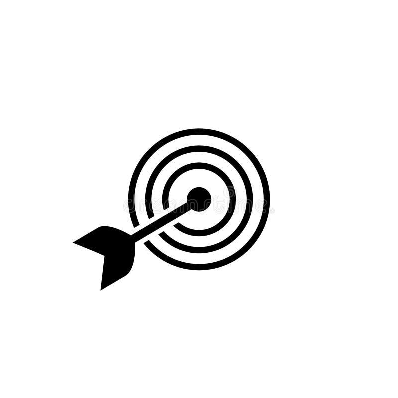 Εικονίδιο στόχων στο καθιερώνον τη μόδα επίπεδο ύφος που απομονώνεται στο άσπρο υπόβαθρο Διανυσματική απεικόνιση, EPS10 ελεύθερη απεικόνιση δικαιώματος