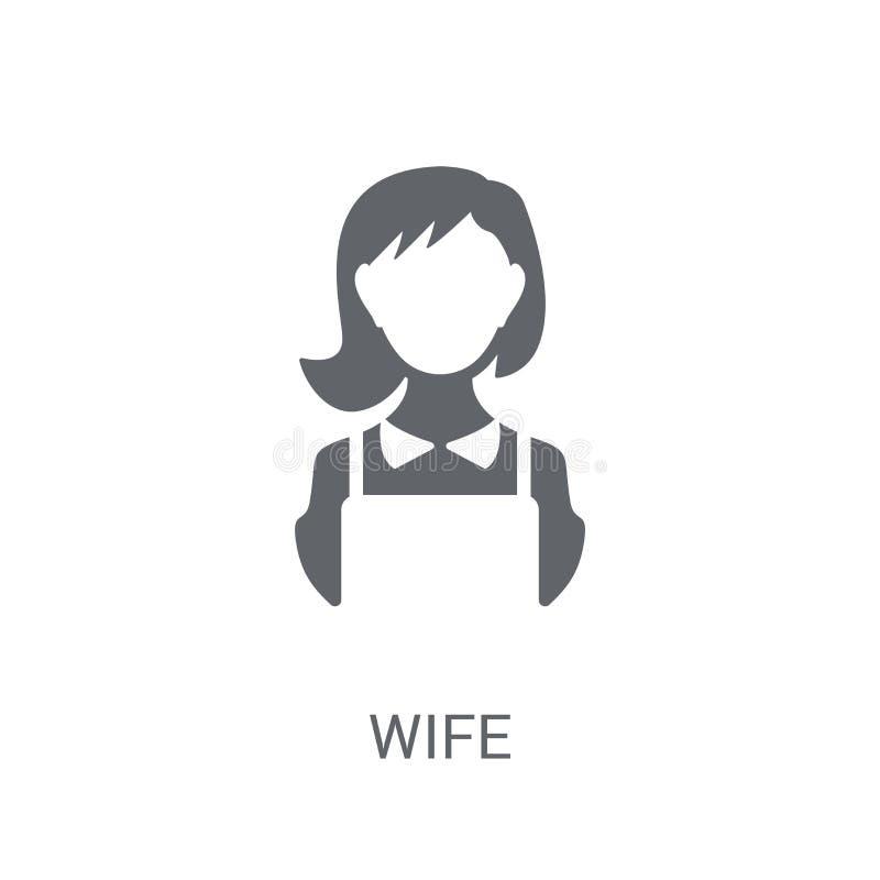 εικονίδιο συζύγων Καθιερώνουσα τη μόδα έννοια λογότυπων συζύγων στο άσπρο υπόβαθρο από Fam διανυσματική απεικόνιση