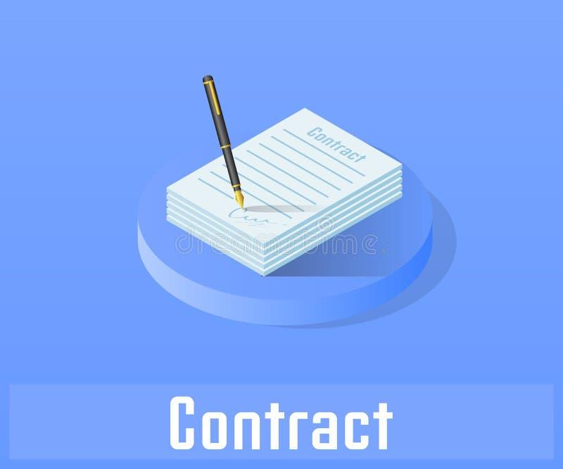 Εικονίδιο συμβάσεων, διανυσματικό σύμβολο ελεύθερη απεικόνιση δικαιώματος