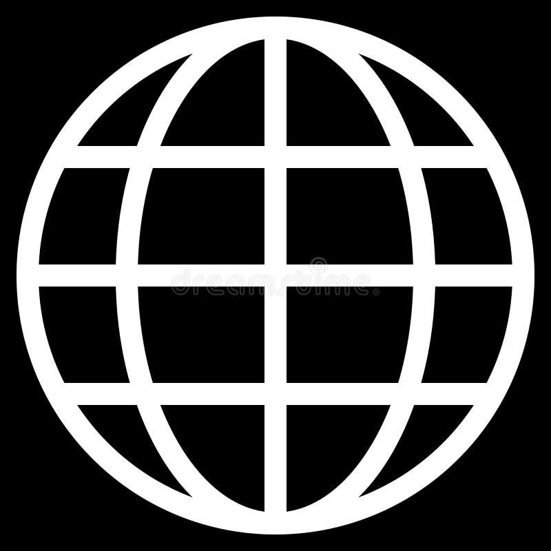 Εικονίδιο συμβόλων σφαιρών - άσπρος απλός, απομονωμένος - διάνυσμα διανυσματική απεικόνιση