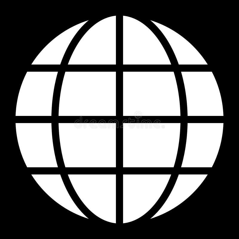 Εικονίδιο συμβόλων σφαιρών - άσπρος απλός, απομονωμένος - διάνυσμα απεικόνιση αποθεμάτων