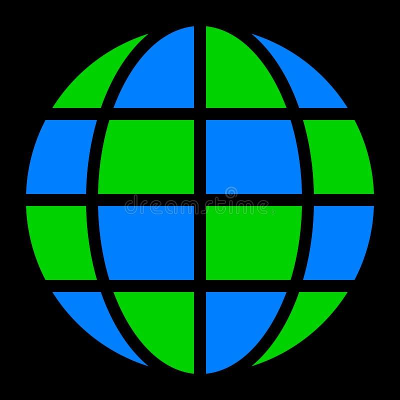 Εικονίδιο συμβόλων σφαιρών - γη απλή, απομονωμένος - διάνυσμα ελεύθερη απεικόνιση δικαιώματος