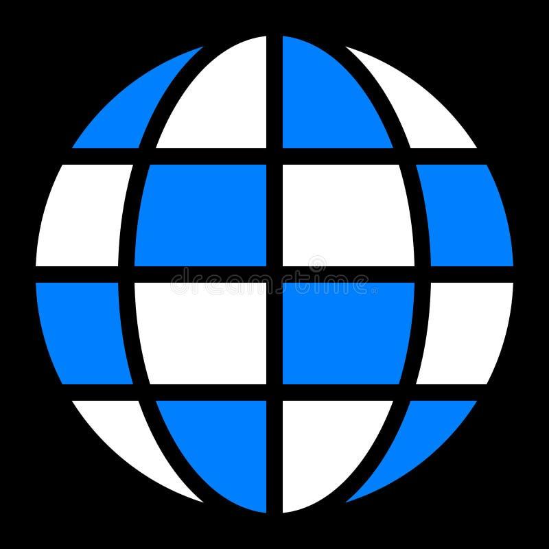 Εικονίδιο συμβόλων σφαιρών - γη απλή, απομονωμένος - διάνυσμα απεικόνιση αποθεμάτων