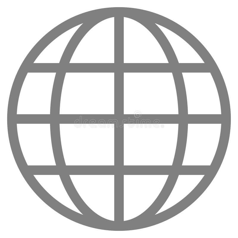 Εικονίδιο συμβόλων σφαιρών - γκρίζος απλός, απομονωμένος - διάνυσμα ελεύθερη απεικόνιση δικαιώματος