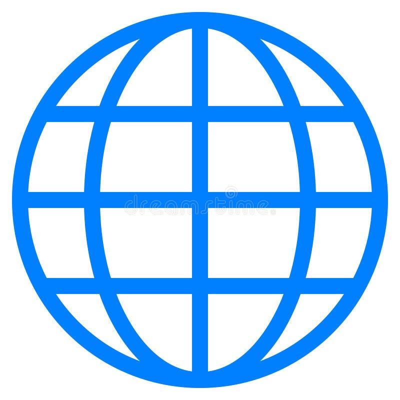 Εικονίδιο συμβόλων σφαιρών - μπλε απλός, απομονωμένος - διάνυσμα απεικόνιση αποθεμάτων