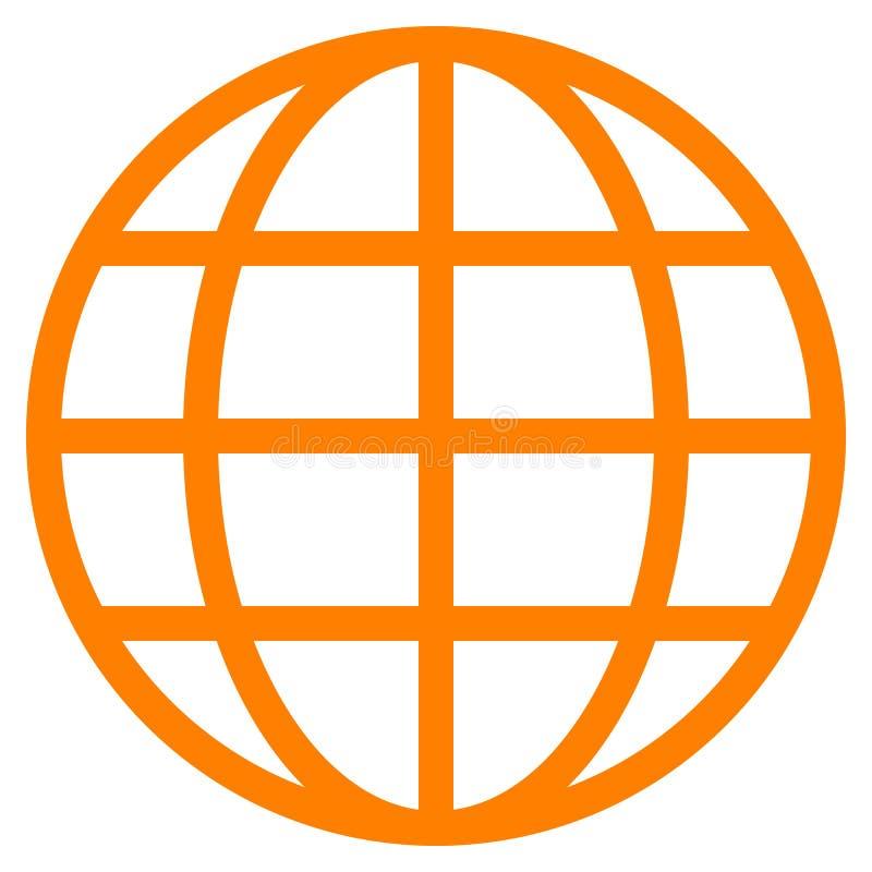 Εικονίδιο συμβόλων σφαιρών - πορτοκαλής απλός, απομονωμένος - διάνυσμα απεικόνιση αποθεμάτων