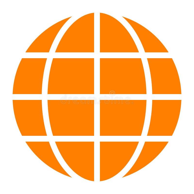 Εικονίδιο συμβόλων σφαιρών - πορτοκαλής απλός, απομονωμένος - διάνυσμα διανυσματική απεικόνιση