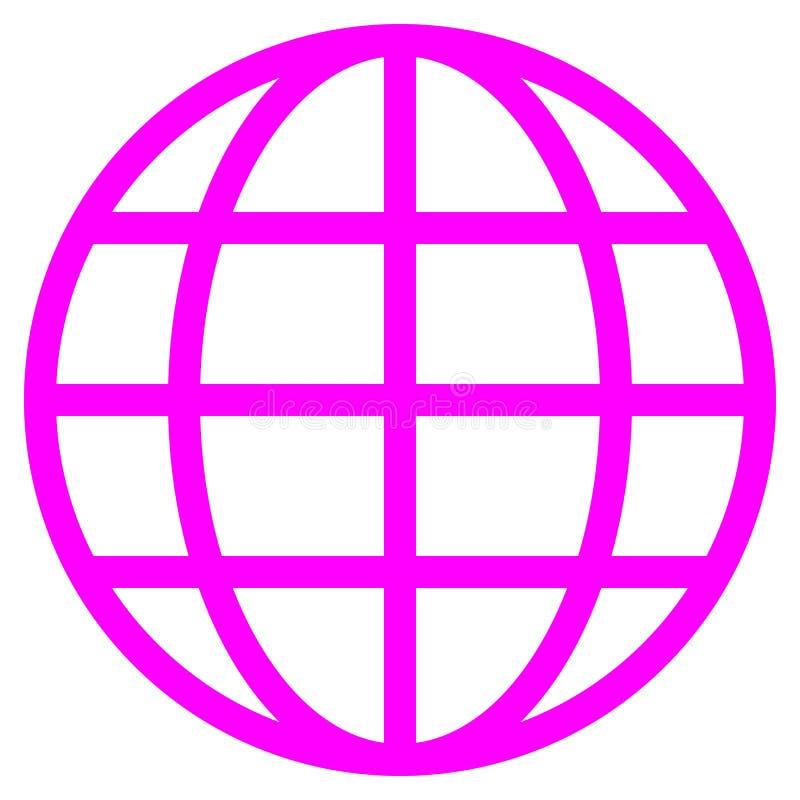 Εικονίδιο συμβόλων σφαιρών - πορφυρός απλός, απομονωμένος - διάνυσμα διανυσματική απεικόνιση