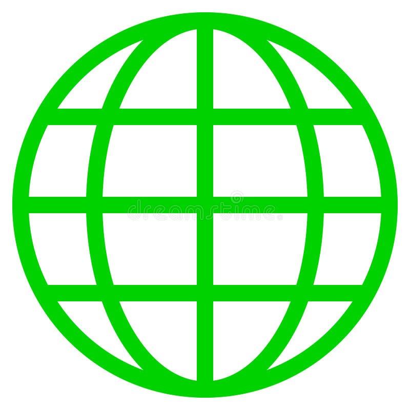 Εικονίδιο συμβόλων σφαιρών - πράσινος απλός, απομονωμένος - διάνυσμα διανυσματική απεικόνιση