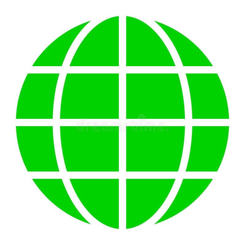Εικονίδιο συμβόλων σφαιρών - πράσινος απλός, απομονωμένος - διάνυσμα ελεύθερη απεικόνιση δικαιώματος