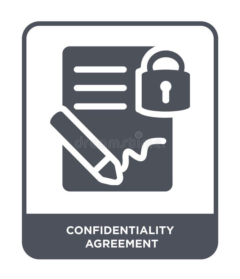 εικονίδιο συμφωνίας εμπιστευτικότητας στο καθιερώνον τη μόδα ύφος σχεδίου εικονίδιο συμφωνίας εμπιστευτικότητας που απομονώνεται  ελεύθερη απεικόνιση δικαιώματος