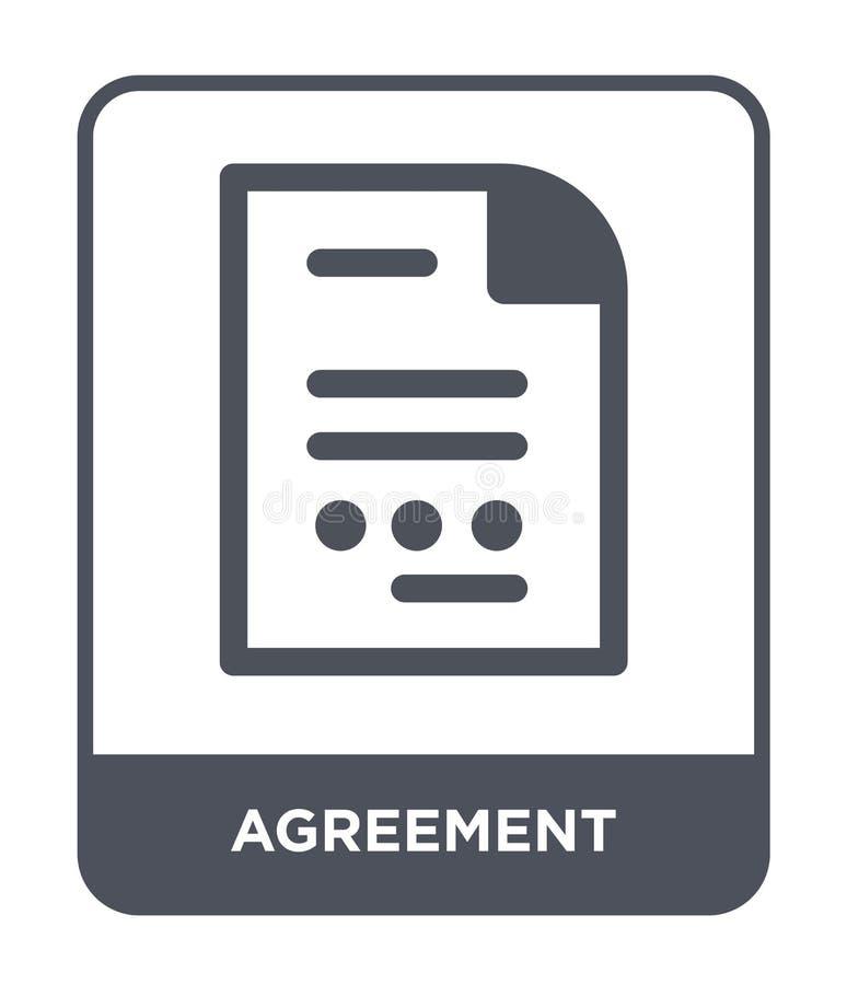 εικονίδιο συμφωνίας στο καθιερώνον τη μόδα ύφος σχεδίου Εικονίδιο συμφωνίας που απομονώνεται στο άσπρο υπόβαθρο απλό και σύγχρονο διανυσματική απεικόνιση
