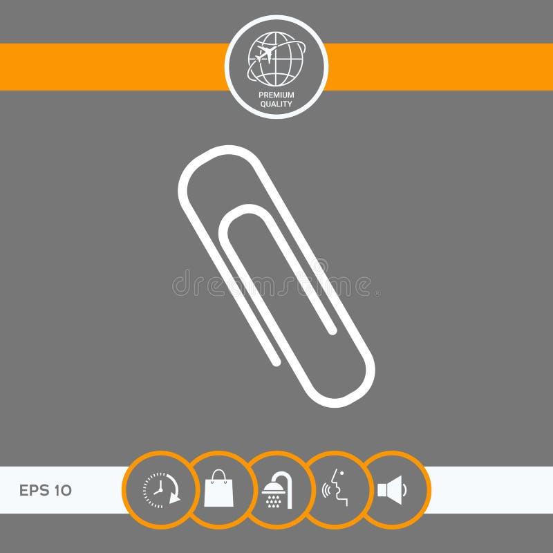 Εικονίδιο συνδετήρων εγγράφου απεικόνιση αποθεμάτων