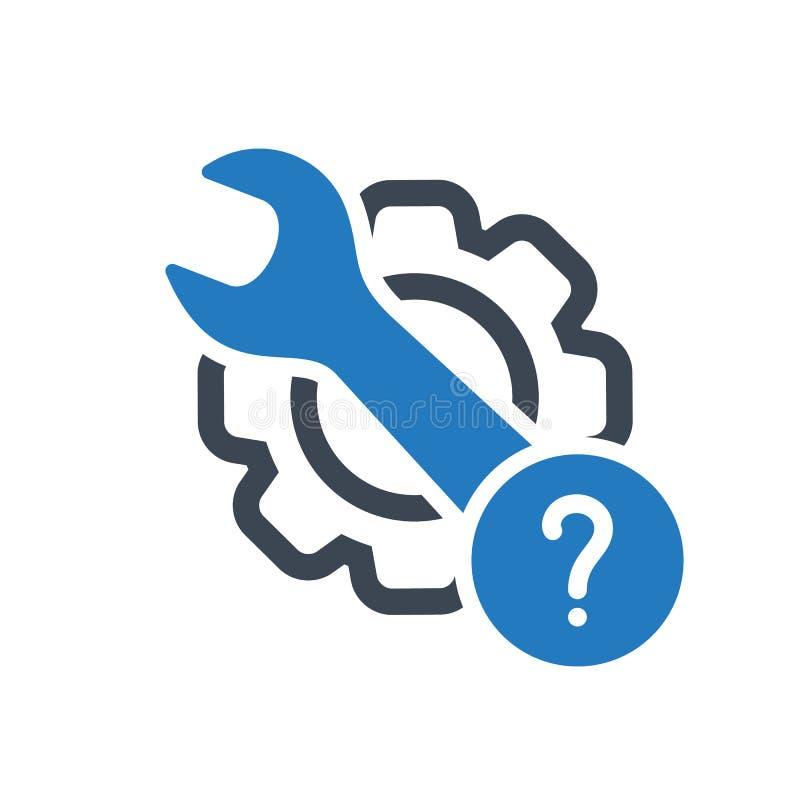Εικονίδιο συντήρησης με το ερωτηματικό Εικονίδιο και βοήθεια συντήρησης, πώς, πληροφορίες, σύμβολο ερώτησης διανυσματική απεικόνιση
