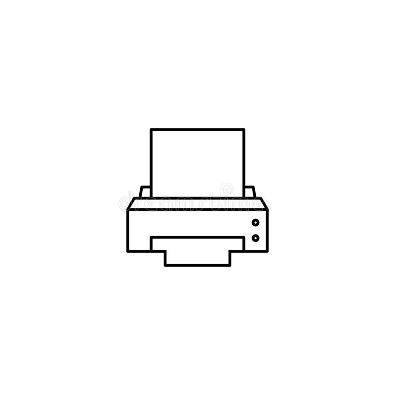 Εικονίδιο συσκευών εκτυπωτών υπολογιστών διανυσματική απεικόνιση