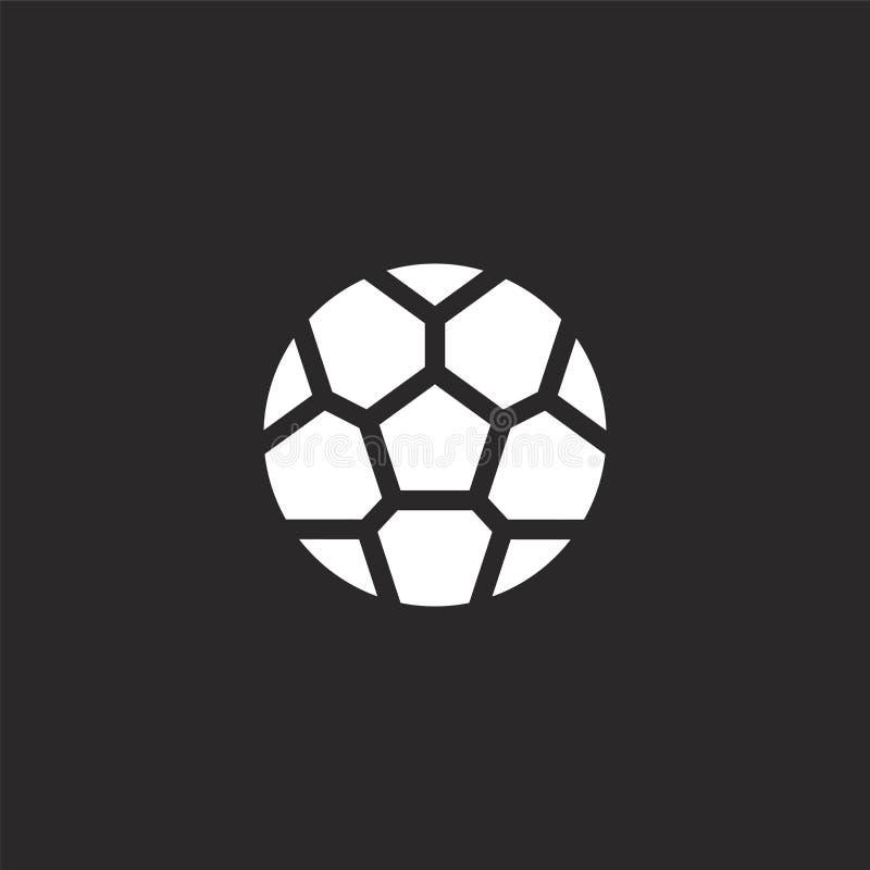 εικονίδιο σφαιρών ποδοσφαίρου Γεμισμένο εικονίδιο σφαιρών ποδοσφαίρου για το σχέδιο ιστοχώρου και κινητός, app ανάπτυξη εικονίδιο διανυσματική απεικόνιση