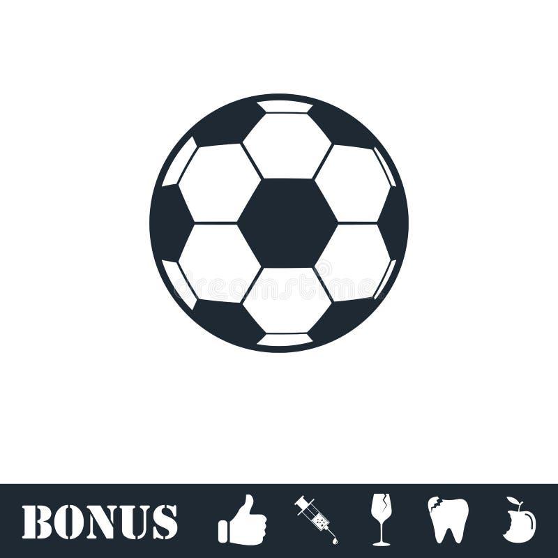 Εικονίδιο σφαιρών ποδοσφαίρου επίπεδο απεικόνιση αποθεμάτων
