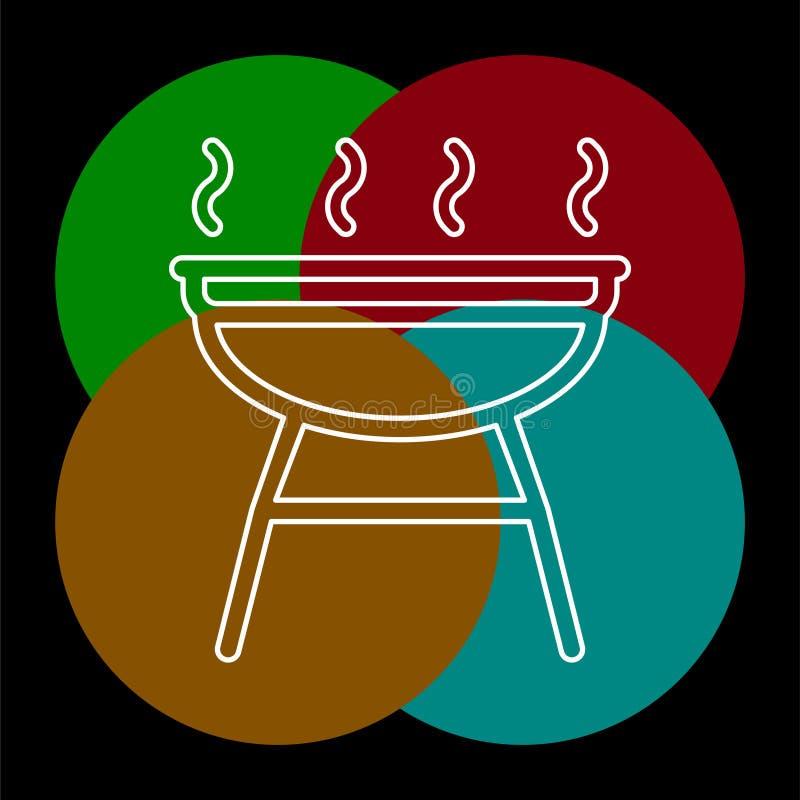 Εικονίδιο σχαρών - διανυσματικό κόμμα σχαρών - σύμβολο πικ-νίκ διανυσματική απεικόνιση