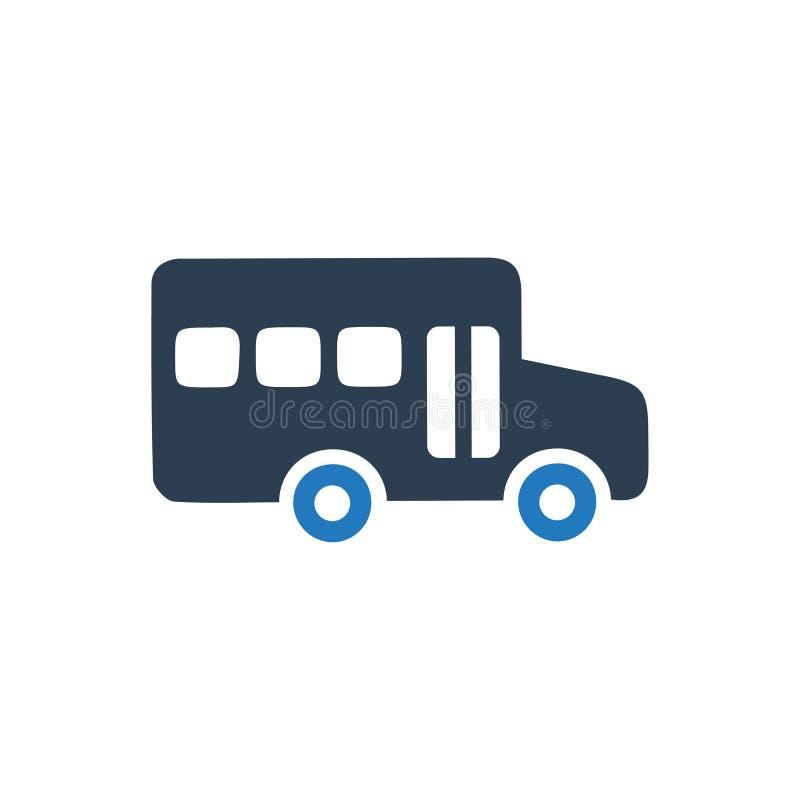 Εικονίδιο σχολικών λεωφορείων ελεύθερη απεικόνιση δικαιώματος