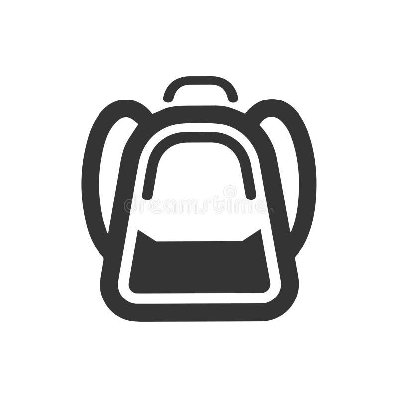 Εικονίδιο σχολικών τσαντών απεικόνιση αποθεμάτων