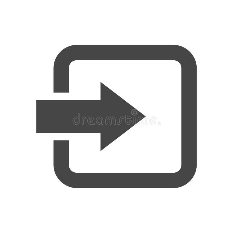 Εικονίδιο σύνδεσης ελεύθερη απεικόνιση δικαιώματος