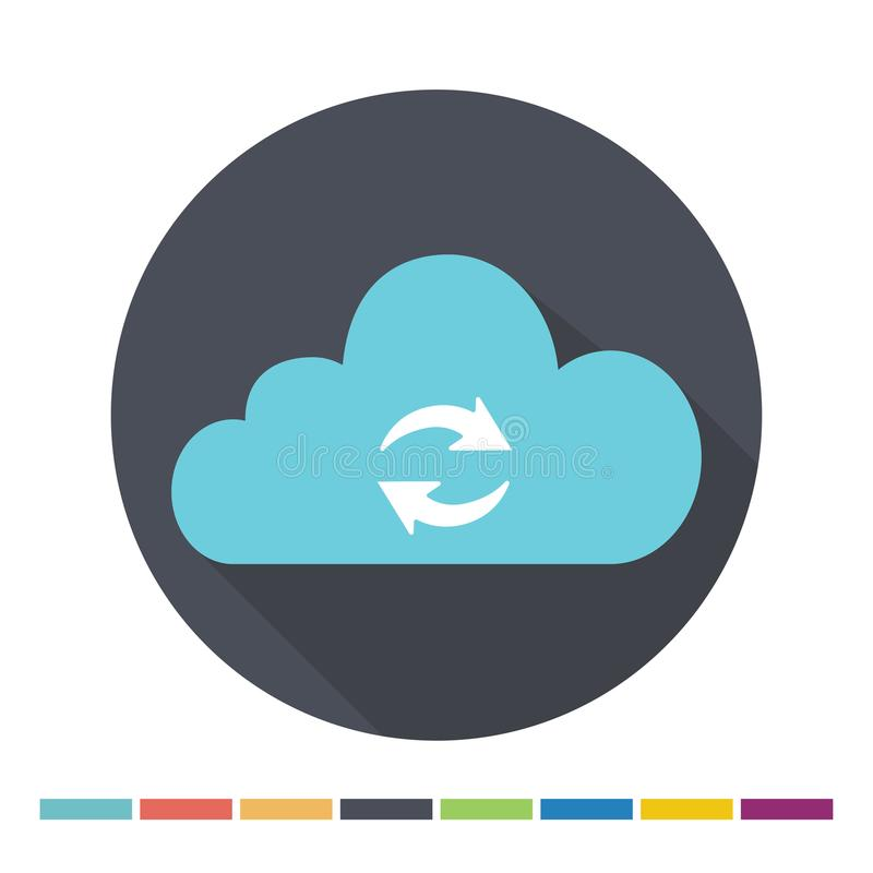 Εικονίδιο σύννεφων στοιχείων ελεύθερη απεικόνιση δικαιώματος