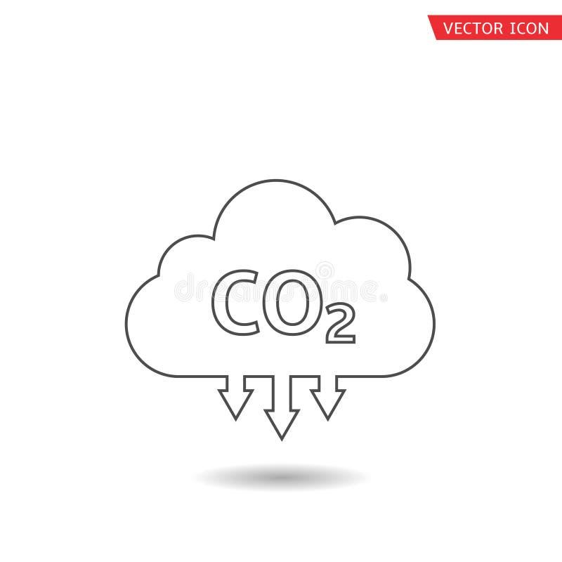 Εικονίδιο σύννεφων του CO2 ελεύθερη απεικόνιση δικαιώματος