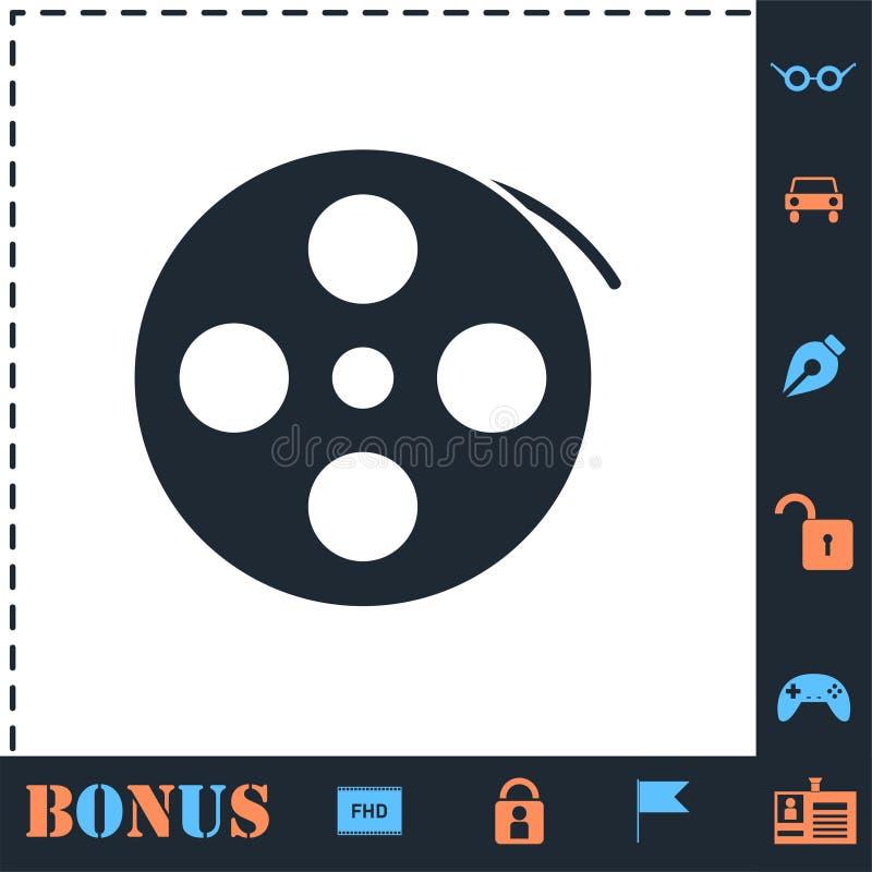 Εικονίδιο ταινιών εξελίκτρων επίπεδο απεικόνιση αποθεμάτων