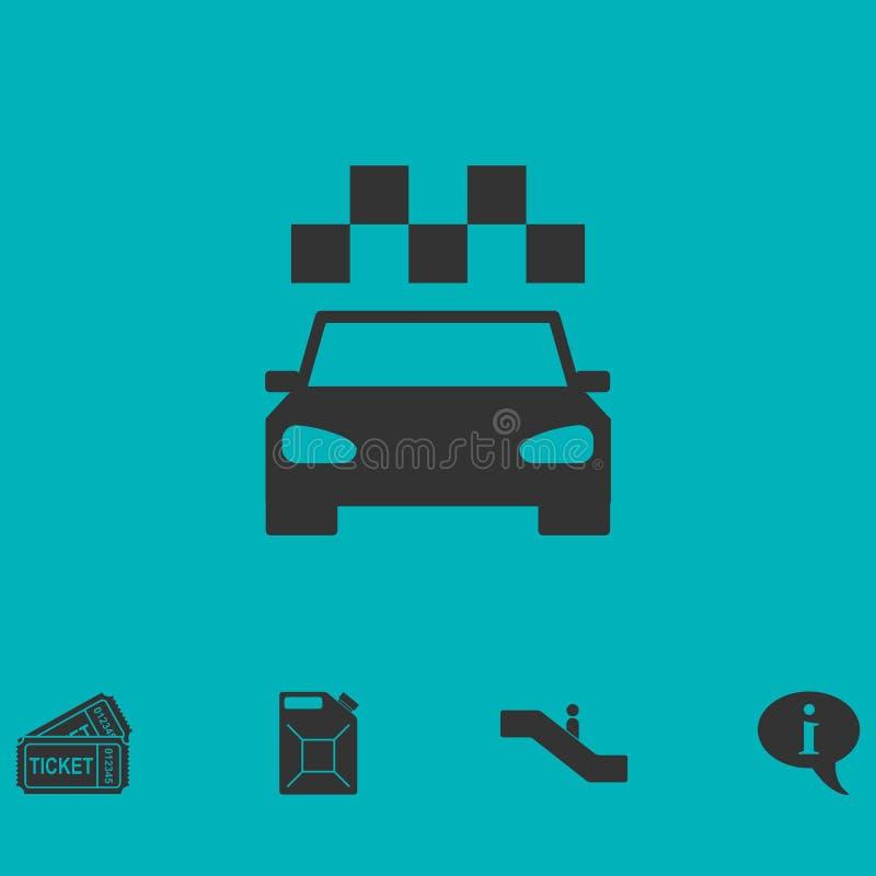Εικονίδιο ταξί επίπεδο διανυσματική απεικόνιση