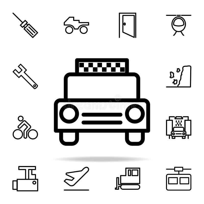 Εικονίδιο ταξί καθολικό εικονιδίων Ιστού που τίθεται για τον Ιστό και κινητό απεικόνιση αποθεμάτων