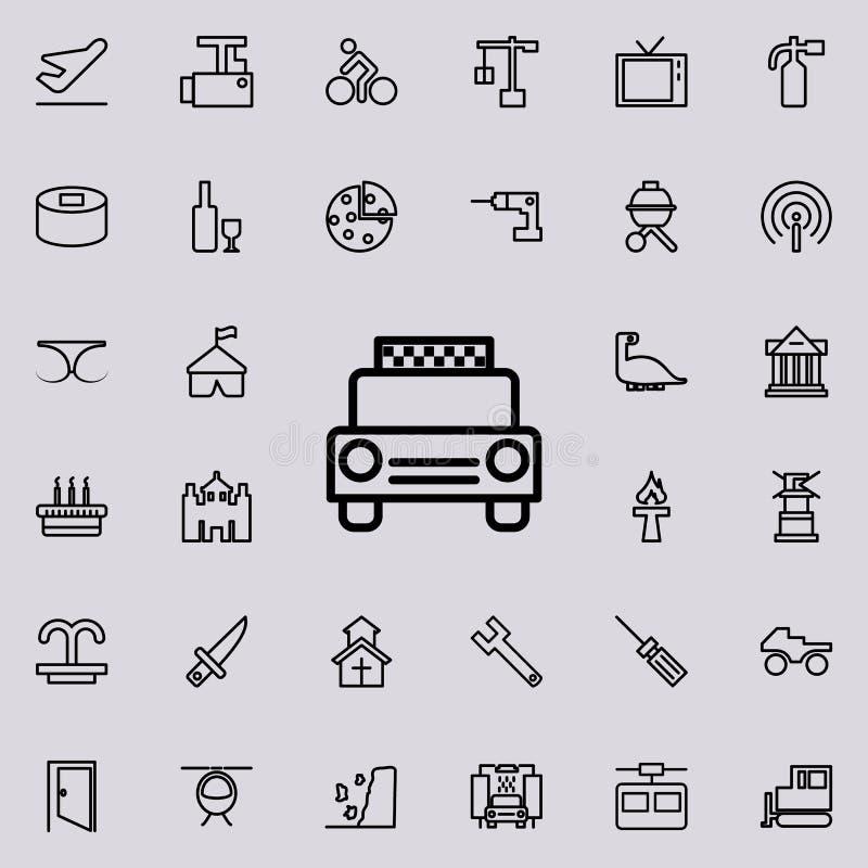 Εικονίδιο ταξί Λεπτομερές σύνολο minimalistic εικονιδίων γραμμών Γραφικό σχέδιο ασφαλίστρου Ένα από τα εικονίδια συλλογής για του ελεύθερη απεικόνιση δικαιώματος