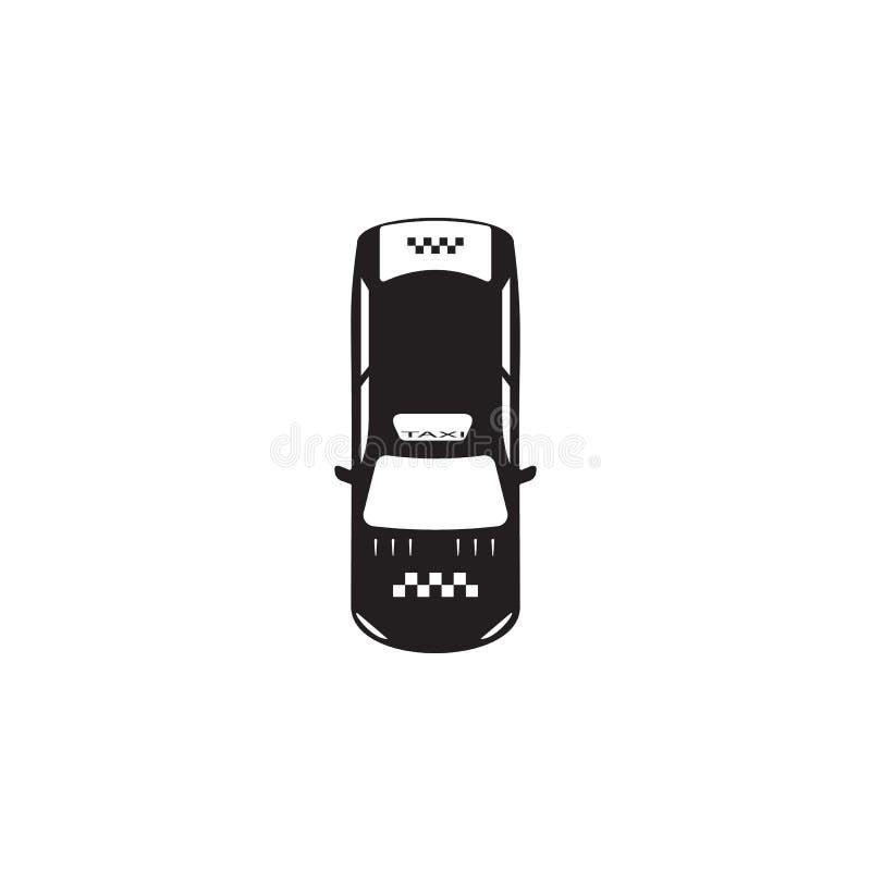 Εικονίδιο ταξί Στοιχείο του εικονιδίου άποψης μεταφορών άνωθεν Ένα από το εικονίδιο συλλογών για το σχέδιο ιστοχώρου και την ανάπ ελεύθερη απεικόνιση δικαιώματος