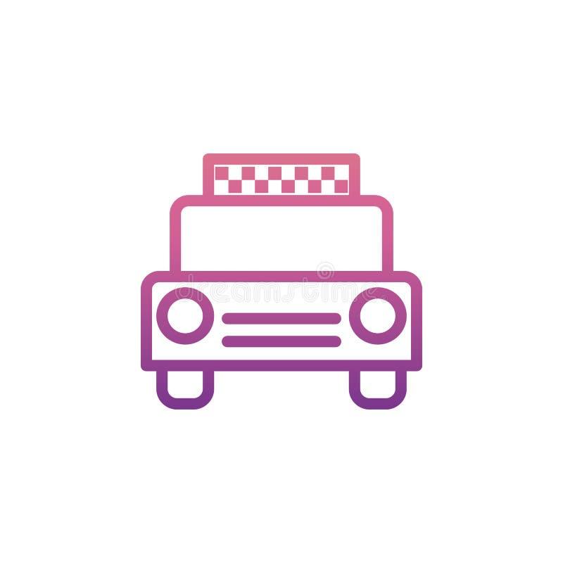 Εικονίδιο ταξί στο ύφος του Nolan διανυσματική απεικόνιση