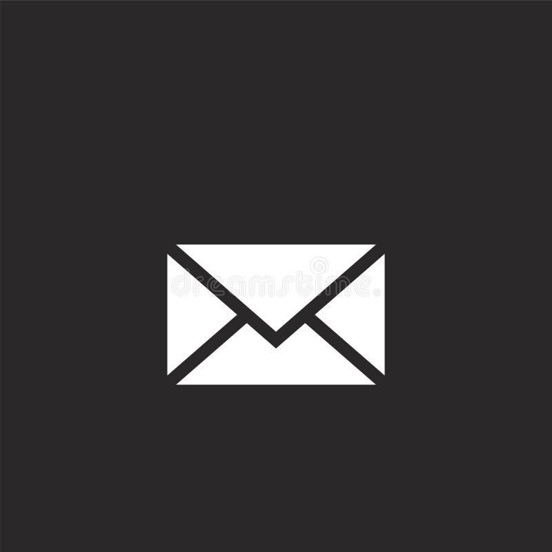 εικονίδιο ταχυδρομείου Γεμισμένο εικονίδιο ταχυδρομείου για το σχέδιο ιστοχώρου και κινητός, app ανάπτυξη το εικονίδιο ταχυδρομεί απεικόνιση αποθεμάτων