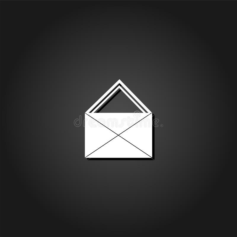 Εικονίδιο ταχυδρομείου επίπεδο απεικόνιση αποθεμάτων