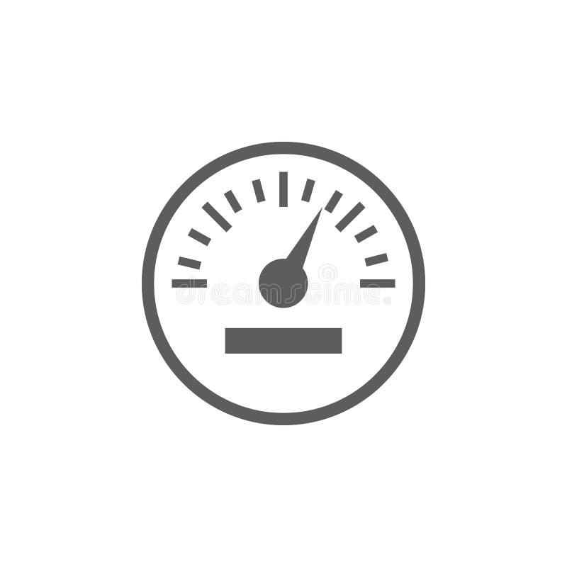 Εικονίδιο ταχυμέτρων αυτοκινήτων Στοιχεία του εικονιδίου επισκευής αυτοκινήτων Γραφικό σχέδιο εξαιρετικής ποιότητας Σημάδια, εικο ελεύθερη απεικόνιση δικαιώματος
