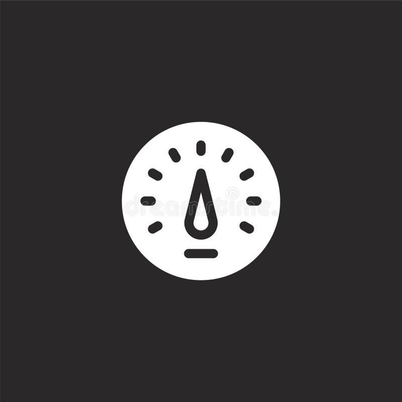 εικονίδιο ταχυμέτρων Γεμισμένο εικονίδιο ταχυμέτρων για το σχέδιο ιστοχώρου και κινητός, app ανάπτυξη εικονίδιο ταχυμέτρων από γε ελεύθερη απεικόνιση δικαιώματος