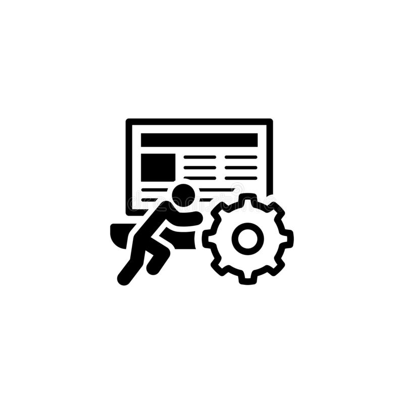 Εικονίδιο τεχνικής υποστήριξης Επίπεδη σχεδίαση στοκ φωτογραφία
