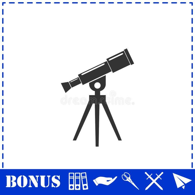 Εικονίδιο τηλεσκοπίων επίπεδο ελεύθερη απεικόνιση δικαιώματος