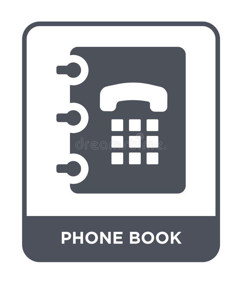 εικονίδιο τηλεφωνικών καταλόγων στο καθιερώνον τη μόδα ύφος σχεδίου εικονίδιο τηλεφωνικών καταλόγων που απομονώνεται στο άσπρο υπ διανυσματική απεικόνιση