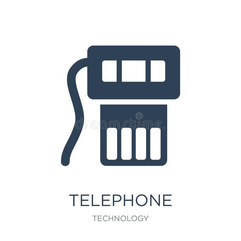 εικονίδιο τηλεφωνικών συνδετήρων στο καθιερώνον τη μόδα ύφος σχεδίου εικονίδιο τηλεφωνικών συνδετήρων που απομονώνεται στο άσπρο  διανυσματική απεικόνιση