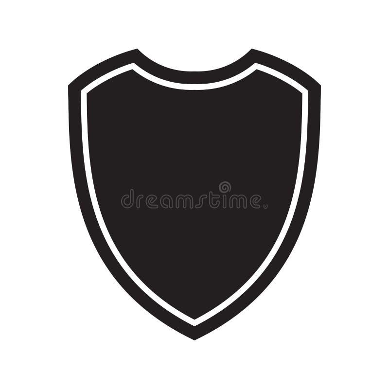 Εικονίδιο της ασπίδας Σύμβολο υπεράσπισης, προστασίας ή ασφάλειας, διανυσματικό σημάδι ελεύθερη απεικόνιση δικαιώματος