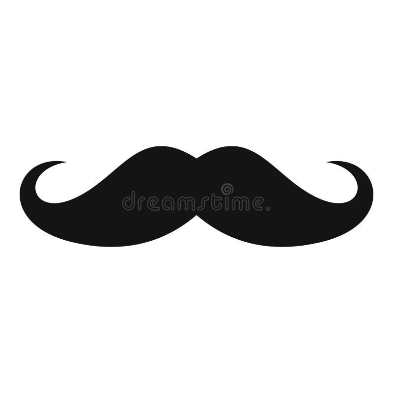 Εικονίδιο της Ιταλίας mustache, απλό ύφος ελεύθερη απεικόνιση δικαιώματος