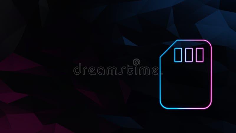 εικονίδιο της κάρτας sim ελεύθερη απεικόνιση δικαιώματος