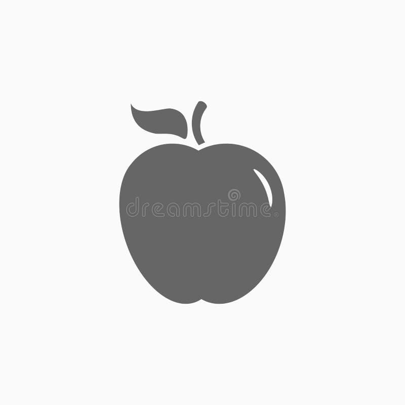 Εικονίδιο της Apple, διάνυσμα φρούτων διανυσματική απεικόνιση